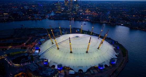 Up at The O2 night shot