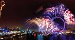 one whitehall nye - fireworks london eye