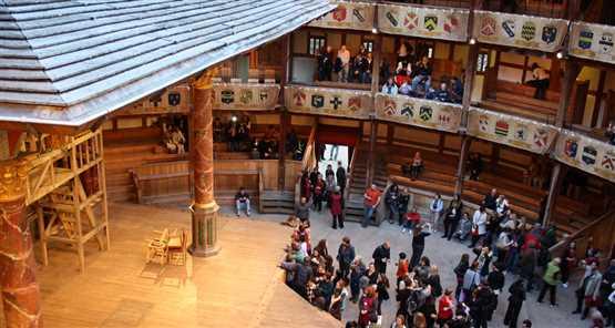 Shakespeares globe inside