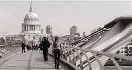 St Paul's Cathedral black and white